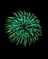 Green Fireworks by AcceptedOutcast