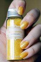 Sunshine Glitter Nails by thebreat