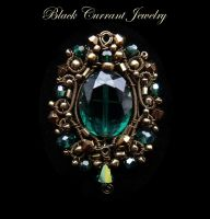 Green Crystal Pendant by blackcurrantjewelry