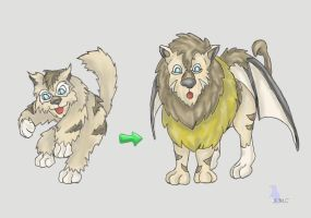 Fakemon: Manticore Pokemon by werepenguin