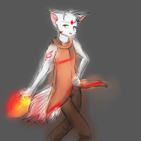 Fire Wolf - 10 points by SloppyInk