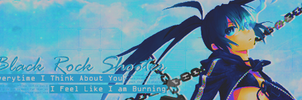 Black Rock Shooter Signature Banner By Me by Laurello7