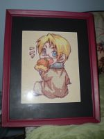 Hetalia America Chibi Cross Stitch by ChandrakantaAvani