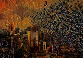 Crows bring the Apocalypse by GrisOscuro