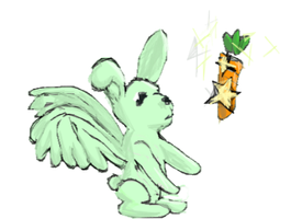 Mint Bunny +watch thank you by Maple-Historian-Avi