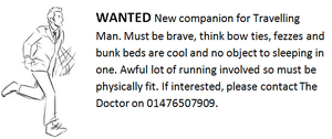 The Doctor wants a companion! by PsychicHexo