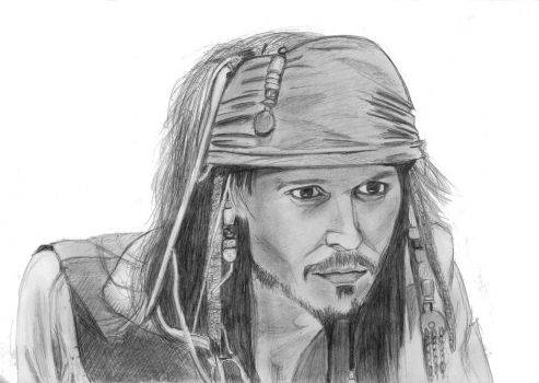 Jack Sparrow face 2006 by elodie50a