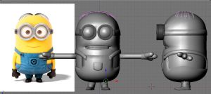 Minion for XnaLara WIP by ZayrCroft