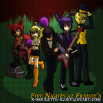 Request - Human!Five Nights at Freddy's by x-Roulette-x