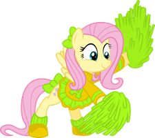 Cheerleader Fluttershy by Yetioner