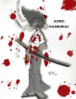 AFRO SAMURAI ALL BLOODY by FitzRoyG