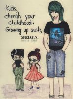 Kids, cherish your childhood by Proud-of-your-love