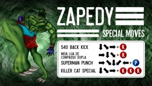 Zapedy's Special Move Sheet (Beast's Fury) by TEMPHUiBIS