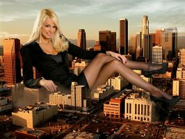 Giantess in the city 12 (updated) by lala222221