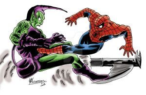 Spider-Man vs The Green Goblin (Norman Osborn) by chrismas-81