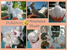 Ninetales Plush by methuselah-alchemist