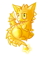 Yellow dragon for RileyPurinPinker by Ravenskysong