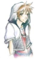 Sora with his hood on by mangacat