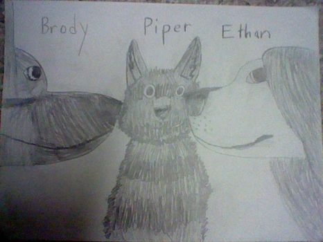 Brody, Piper, and Ethan by JonHankercheif