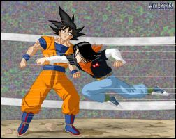 -DBM- Goku VS Android 17 by DBZwarrior