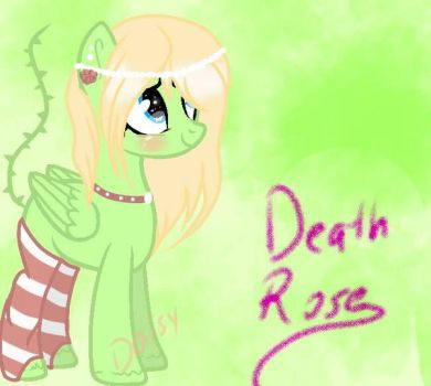 My Mlp Oc - Death Rose - by DaisyChan01