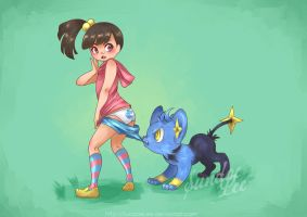 Wild Shinx appeared!! by SundaeLee