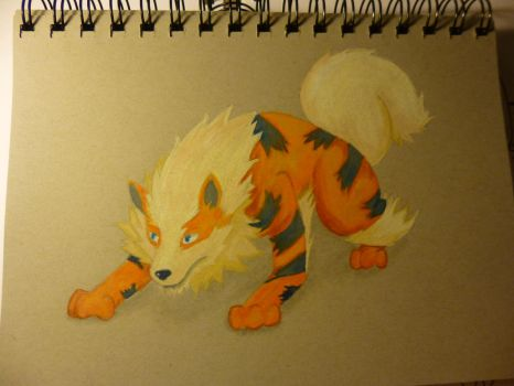 Old Arcanine coloring by OmeletteAvocado