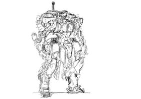 Scrapped mecha by GravedFish