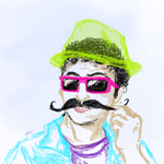 Movember Mustache Man by InvaderPixi