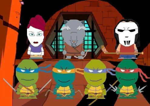 TMNT in South Park style pt. 1 by Shady-Lurker