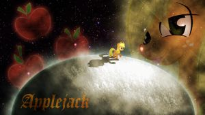 Applejack in Space Wallpaper by Apple4evr