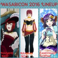 Wasabicon 2016 Lineup by Kisakuma