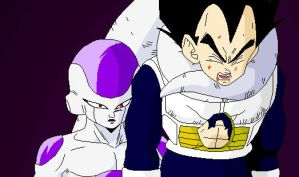 Frieza Vs Vegeta by Jannette92
