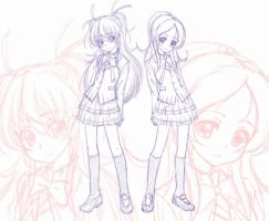 Sketch of Suite Precure ver.2 by chindefu