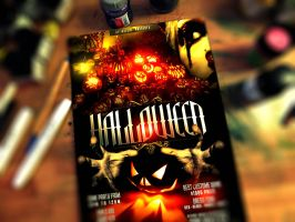 PSD Halloween Flyer Template by retinathemes