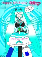 Happy 6th Birthday Hatsune Miku! by MegaMikoyEX7