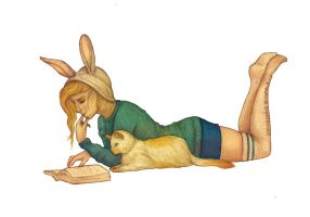 Fionna and Cake by sophalis