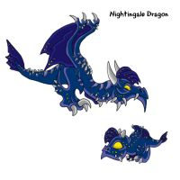 Nightingale Dragon by lalafox456