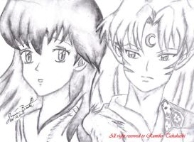 Sesshomaru and Kagome : Dream about each other by Sesshomaru-love
