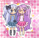 CE: Polka dot Sisters by IgniteTea