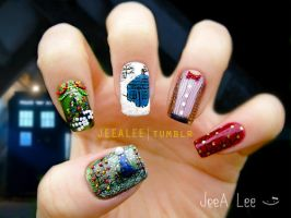The Doctor, The Widow, And The Wardrobe | Nail Art by jeealee