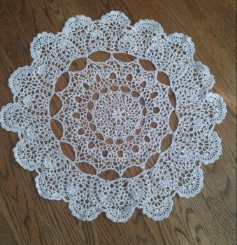 mantilla doily  by TehKnittyKitty