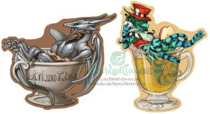 Drink Badges by The-SixthLeafClover