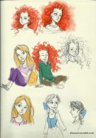 Disney Sketches by compoundbreadd