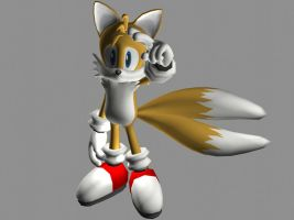 Another Tails render by FoxSpiritG
