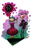 Suddenly LADYBUGS by inkylinkyboooo