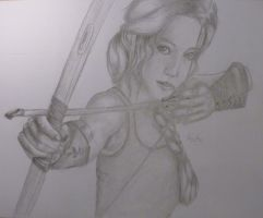 Katniss Everdeen - The Hunger Games by katys1996