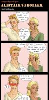 DA Comic - Alistair's problem by PetiteLilen