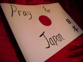 Pray for Japan by TheCluelessUke
