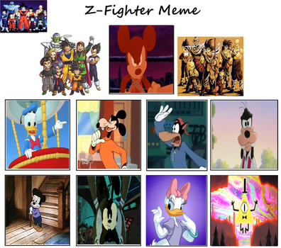 Disney Ball Z: The D-Fighters by lightyearpig
